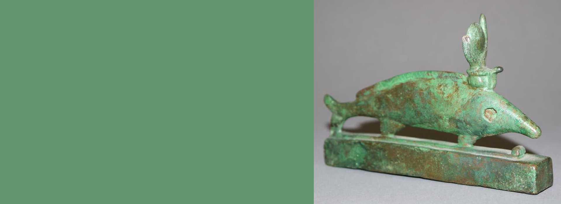 Gott Set als Fisch (Oxyrhynchos-Fisch), Bronze, Ägypten
